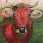 Inge Panter Kuh-Gemälde