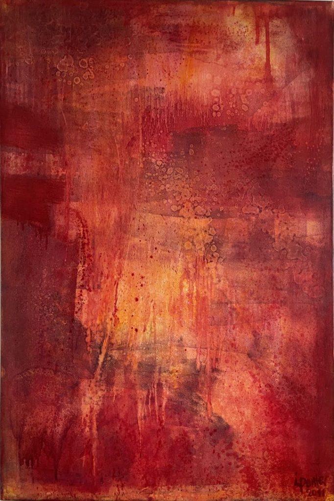 Gemälde in Farbflächen Technik